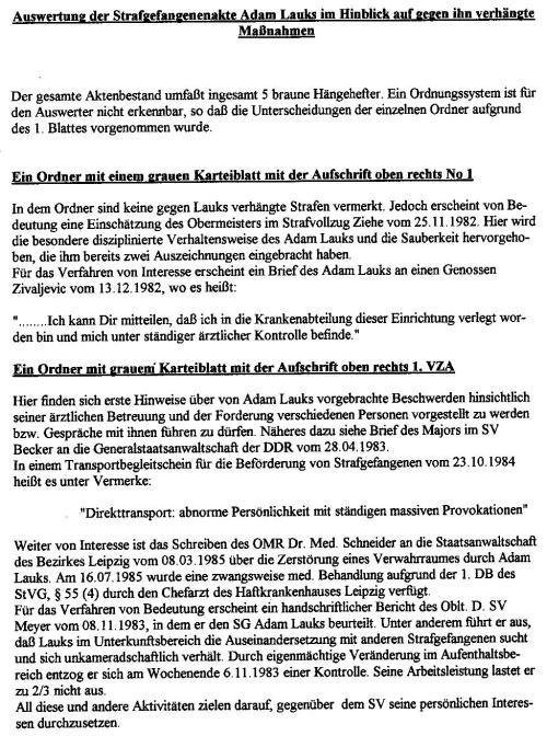 Akten - Beweise - Unterdrückung §258a Gauck und StAII 1992-1997 003