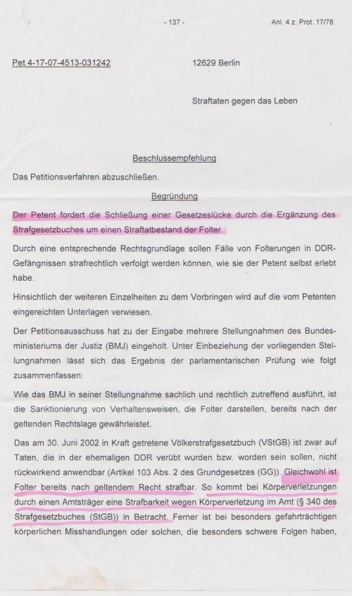 Kersten Steinke - Implementierung § Folter abgelehnt 001