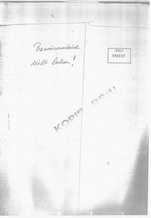 Ich schickte die zwei Exemplare an den Erich Honeckers