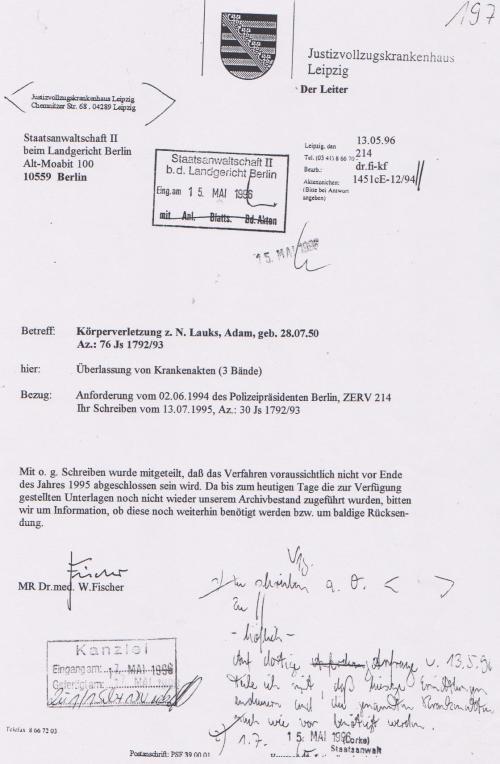 Generalstaatsanwaltschaft unterdrückt Beweise für Kieferbruch 011