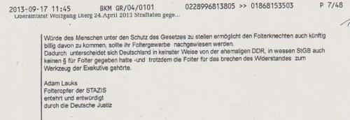 Dass man mit Petition der Deutschen Bürger SO ignorant und unsachlich und abwimmelnd umgeht, wundert nicht. SAber dass man mit den Petition des Deutschen Bundestagspräsidenten und des Ausschusses für Menschenrechte SO umgeht ist höchst besorgniserregend !