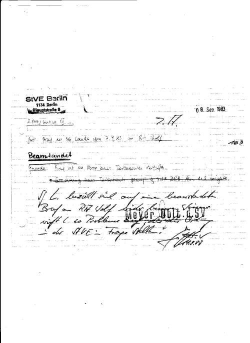 Die Verfügte Ausweisung vom 7.6.1983  wurde mißachtet..