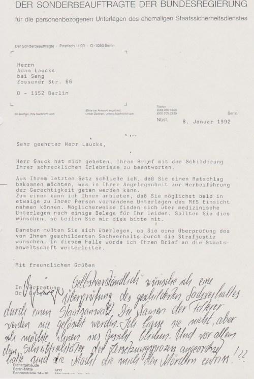 1992 bglaubte ich an den Rechtsstaat BRD
