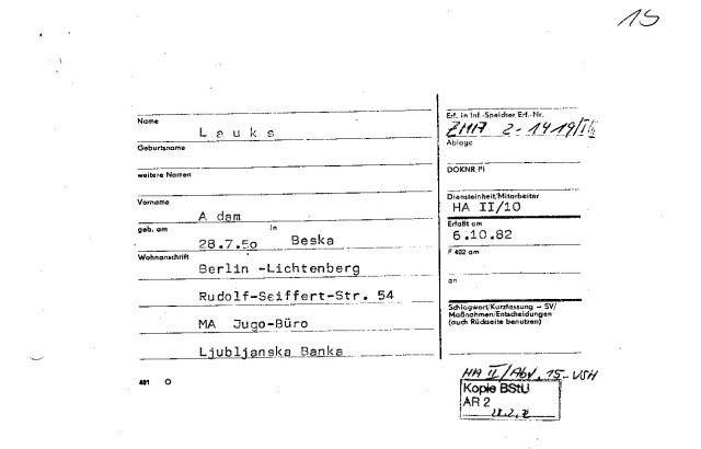 Man bedenke dass ich seit Dezember 1975 in der Vertretung arbeite.
