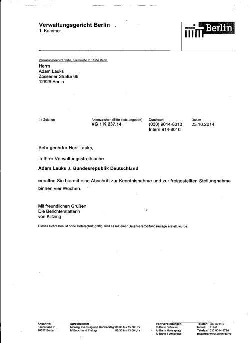Adam Lauks ./. Bundesrepublik Deutschland - Unterdrückten Beweise für schwere Körperverletzung und FOLTER in der Gauck/Jahn Behörde