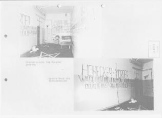 """Gefechtstand des """"Major"""" Lauks in HKH Leipzig Meusdorf. Am 4.7.1985 wurde es zum dritten Mal eingenommen und in meiner Abwesenheit saniert. Die nächste Einlieferung wahr zu erwarten, Gewicht ging runter..."""