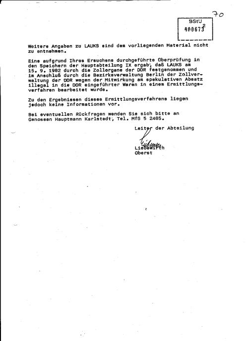 Die IX/2 beruft sich auf die Aussagen von Todor Angelow den der Mitarbeiter der Gauck Behörde so gut schützt durch Schwärzung(lol)