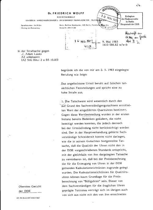 Tag des Sieges der Roten Armee über den Faschismus und Nazismus... war Tag der Berufung  des Staranwalts Dr. Friedrich Wolffs