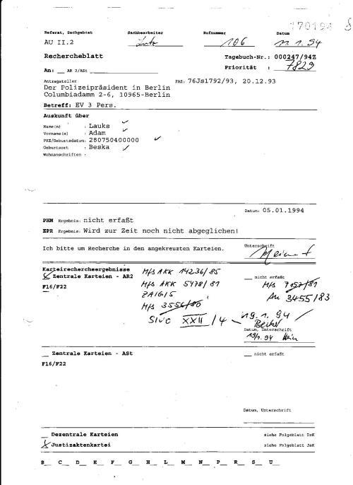 Die Karteikarte auf der die Signaturen erfasst sind muss vorhandwen gewesen sein. SACHBEARBEITER lUTZ ZEIGT DIE UNS NICHT DAMIT WIRDIE RESTLICHEN SIGNATUREN NICHT SEHEN !??