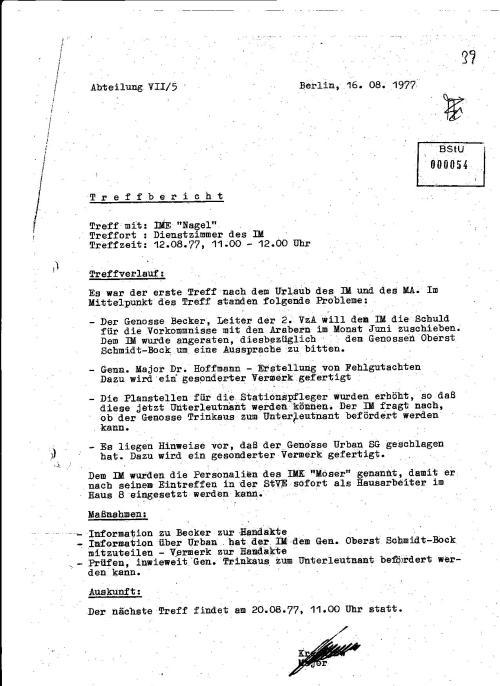 Im Strafvollzug der DDR hat STASI das Regiment geführt und nicht das