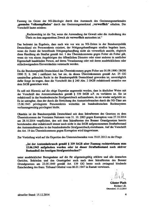 Ergo in deutschem Rechtsstaat & in der DDR wird/wurde wie unter den NAZIS gefoltert !!?
