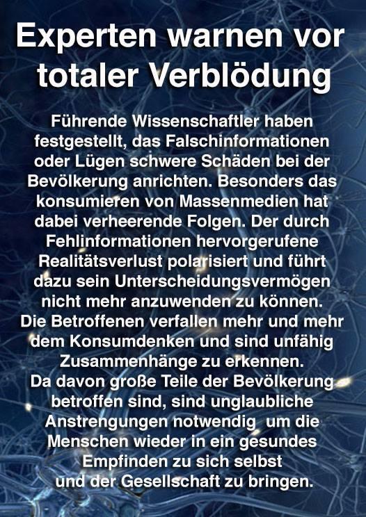 Verblödung der Massen - ein Deutsches Problem, oderwas !??
