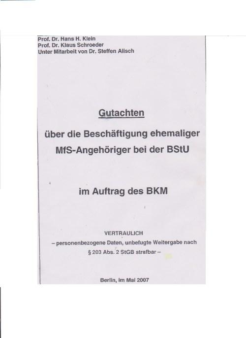 Hätten Wahlfrauen und Wahlmänner dieses Gutachten vor der Wahl am 18.2.2012 gesehen oder gelesen hätten die NIEMALS Gauck zum Bundespräsidenten gewählt
