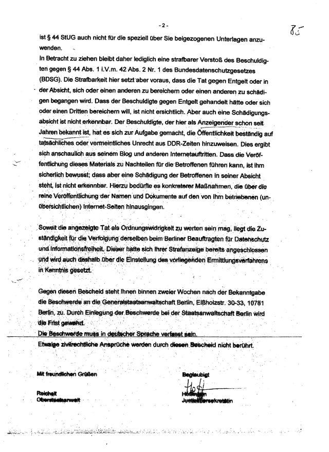 Per Falsche eidesstattliche Versicherung leitete RA Bayer ein Gerichtsprozess vor dem Landgericht Berlin ein, der mich am 5.5.2015 zur Abgabe eines Offenbarungseides zwang, mir die letzte Würde nahm.