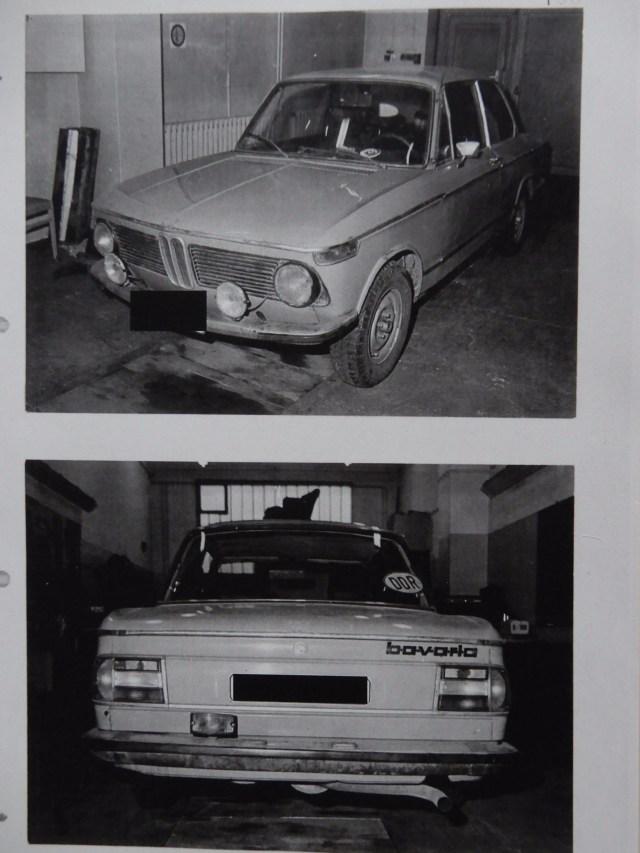 Durch MfS beschlagnahmtes Fahrzeug von Niko Sandro