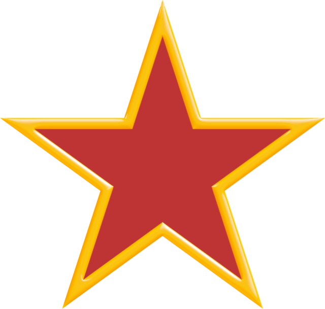 Der Rote Stern aus der Fahne des zerstörten und zersetzten Jugoslawiens
