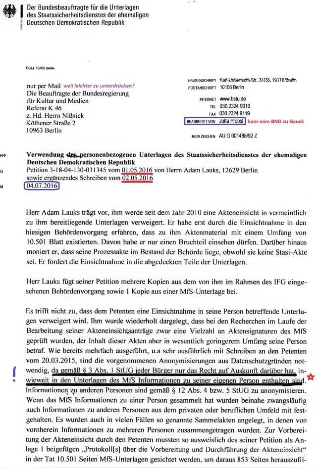 Petition 3-18-04-130-031345 Akteneiunsicht in 10501 Seiten verwährt