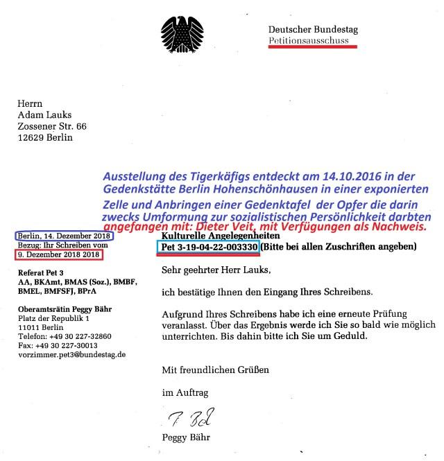 Pet 3-19-04-22-003330 Einbau des Tigerkäfiogs in der Gedenkst.HSH Berlin zum 2.ten