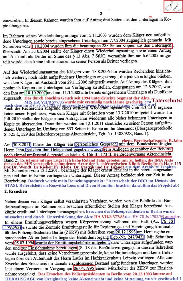 VG 1K 237.14 Klageerwiederung der BStU
