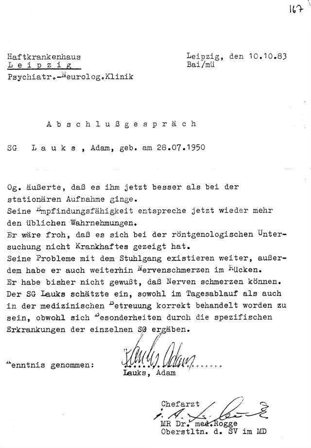 OSL Dr. Jürgen Rogge war der Dr. Mengele an der Rampe vom HKH Leipzig Meusdorf