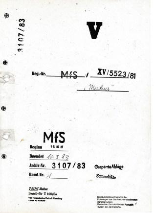 """AU 6 -006894/14Z - Forschungsprojekt : Operativ Vorgang""""Merkur"""" oder Jugoslawische Quarzconnection -Desaster des MfS bei Wirtschaftsdiversion gegen den Außen- und Binnenhandel der DDR und gegen das Finanzsystem der DDR 1979 - 1983"""