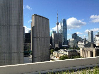 View from the roof of our condo including CN Tower