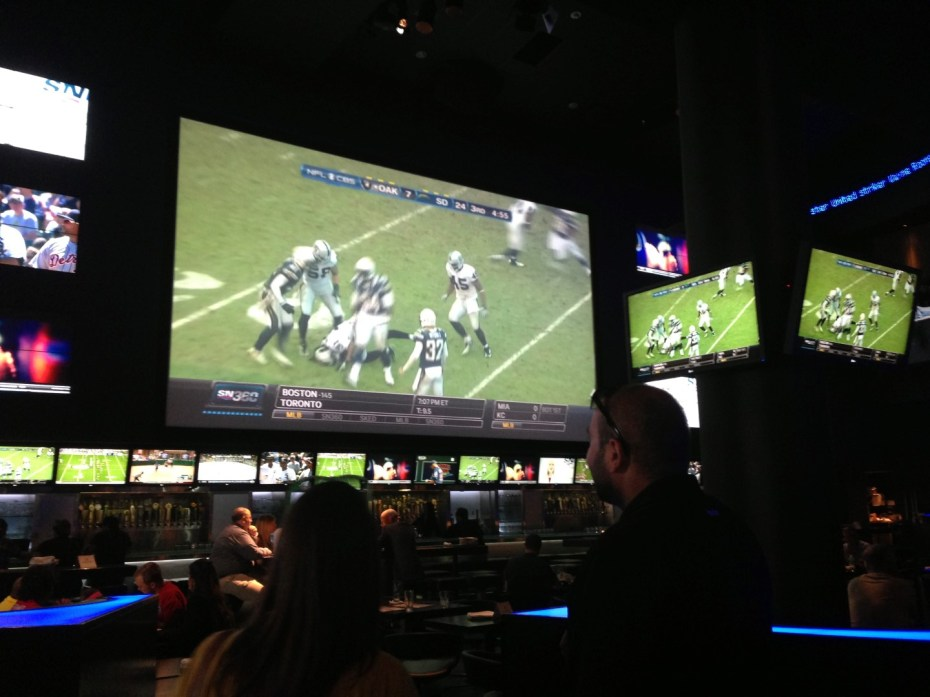 Drinks and NFL at Real Sports Bar & Grill