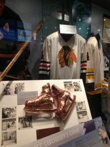 Bobby Orr display at the Hockey Hall of Fame