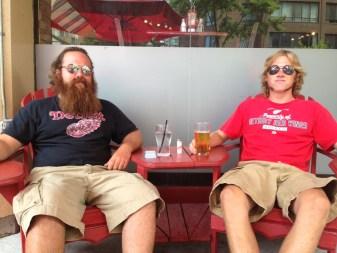 Dan and Jon on the bar patio in Toronto