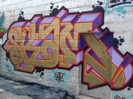 Graffiti in Toronto near the Chinatown area