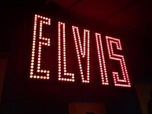 Elvis giant name in lights