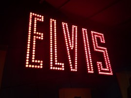 Elvis giant name in lights