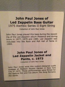 John Paul Jones of Led Zeppelin Bass Guitar, Jacket, and Pants