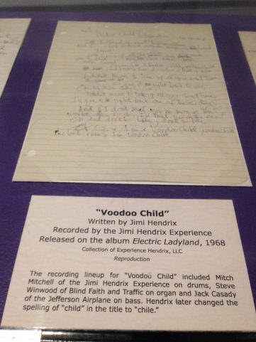 """Voodoo Child"" original lyrics"