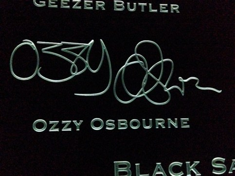 Ozzy Osbourne signature