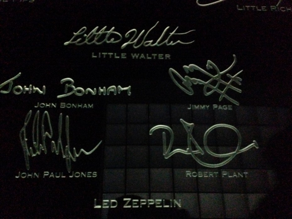Led Zeppelin signatures