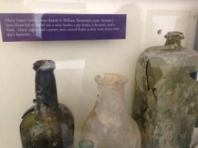 Display of old trash liquor bottles