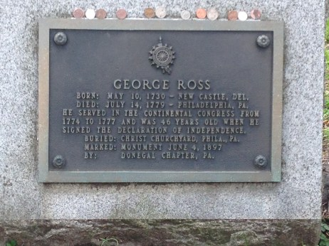 George Ross grave, Christ Church Burial Grounds, Philadelphia