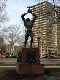 Statue at Philadelphia Museum of Art