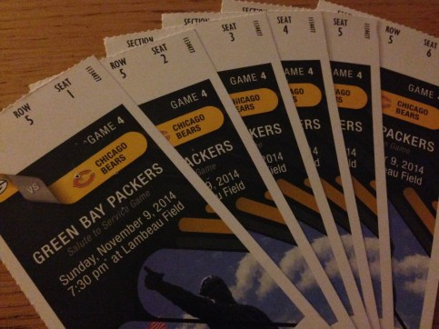 Tickets to the game
