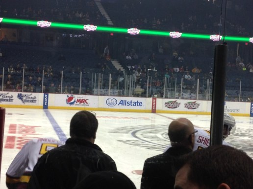 Seats behind the bench