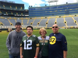 The Martins at Lambeau!