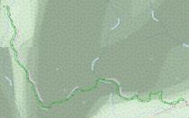 GaiaGPS hiking data @ Laurel Falls GSMNP