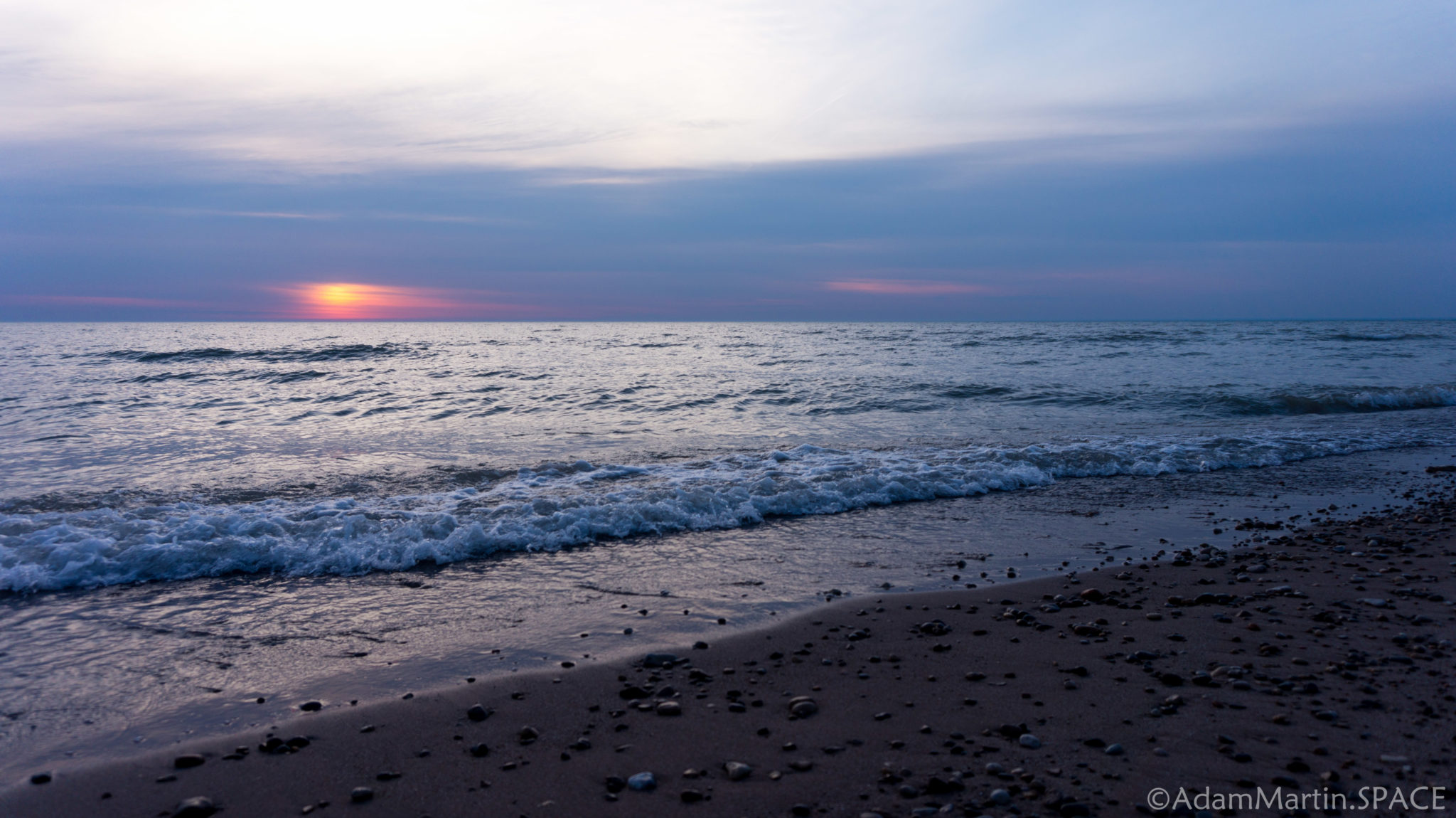 Sunrise over Lake Michigan in Kenosha
