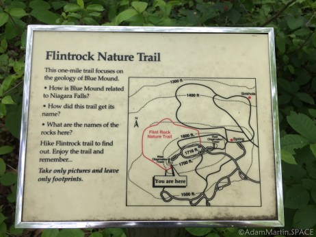 Flint Rock Nature Trail - Start of self-guided nature series