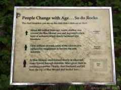 Flint Rock Nature Trail - Sign describing geology
