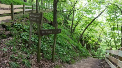 Wyalusing State Park - Treasure Cave trail sign