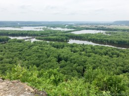 Wyalusing State Park - View of Mississippi/Wisconsin river confluence
