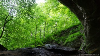 Wyalusing State Park - From below the sandstone at Big Sand Cave