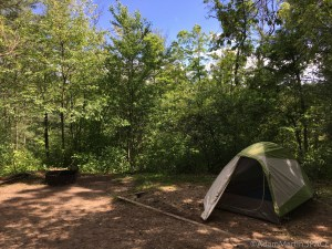 Mirror Lake State Park - Campsite #7 with clear view of the blue skies
